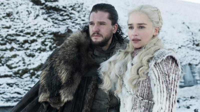 Jon and Dany march to Winterfell. (Photo: HBO)