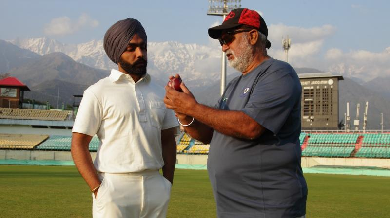 '83 star Ammy Virk with Balwinder Singh Sandhu. (Photo: Instagram)