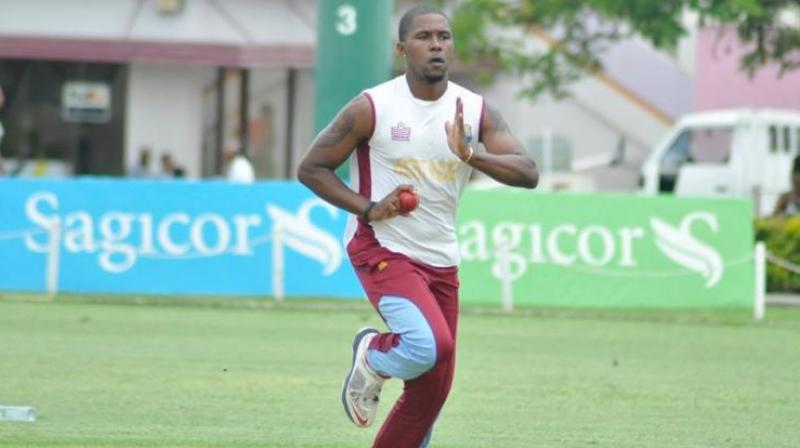 West Indies fast bowler Mali Marshall.
