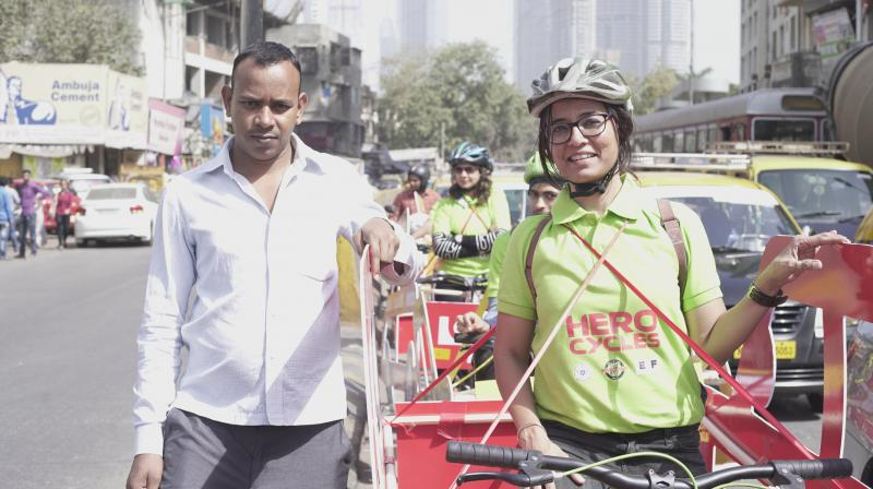 Road Safety Awareness is our biggest concern with increasing number of cyclists sharing the road in Mumbai City.
