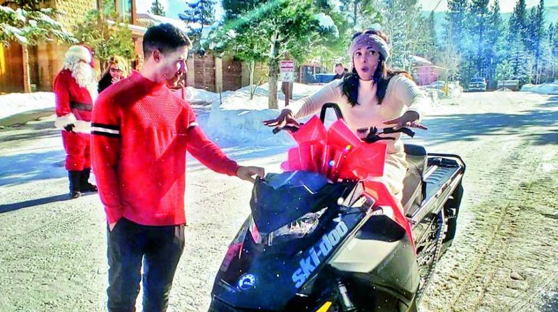 Priyanka Chopra Jonas loved the gift — a snowmobile — husband Nick Jonas gave her for Christmas.