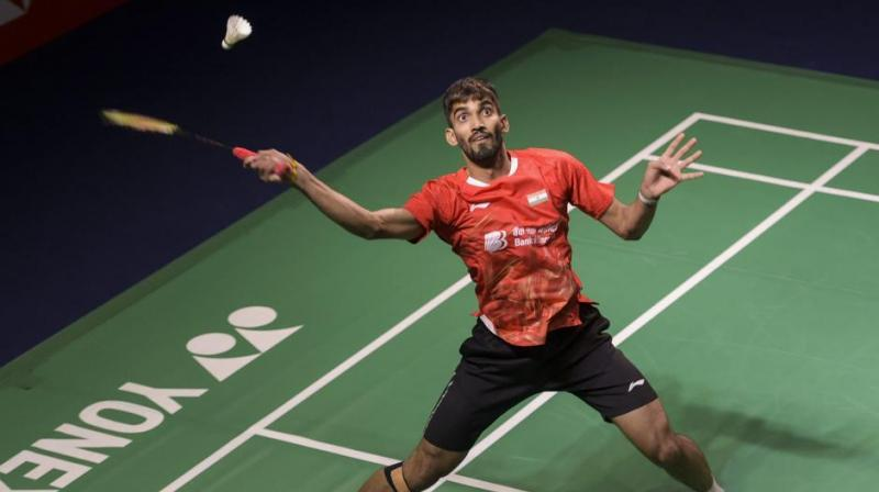 Srikanth, who is coming back after recovering from a knee problem, will face Israel's Misha Zilberman. (Photo: PTI)
