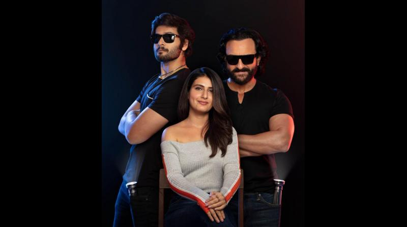 'Bhoot Police' cast Saif Ali Khan, Fatima Sana Shaikh and Ali Fazal. (Photo: Twitter)