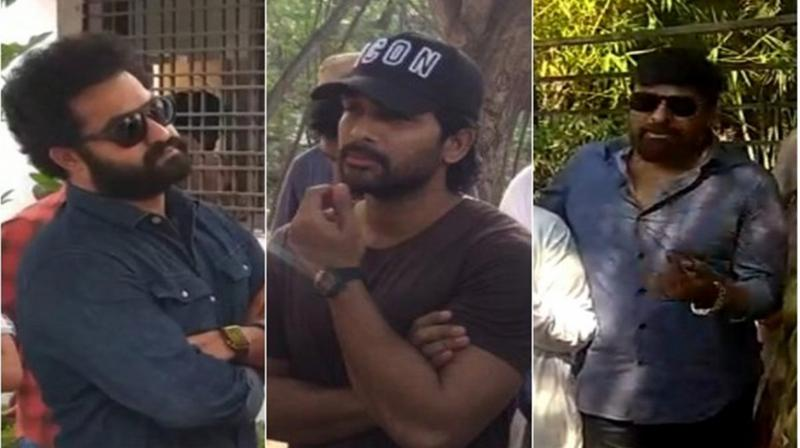 Tollywood superstars like Jr NTR, Allu Arjun, Chiranjeevi and others cast their votes. (Photo: ANI)