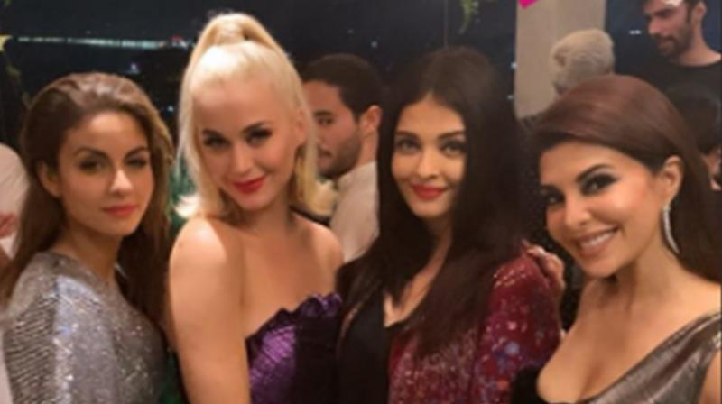 Jacqueline Fernandez, Aishwarya Rai Bachchan, Natasha Poonawalla and Katy Perry. (Photo: Instagram)