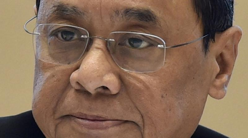 In this Aug. 13, 2019 file photo, the then chief justice of India justice Ranjan Gogoi seen during the 18th late Dharamnath Prasad Kohli memorial lecture organised by the CBI in New Delhi. President Ram Nath Kovind nominated Gogoi to the Rajya Sabha on March 16, 2020. (PTI)