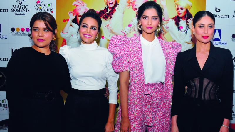 Kareena Kapoor Khan, Sonam Kapoor Ahuja, Swara Bhaskar and Shikha Talsania were recently in the capital to promote their upcoming film Veere Di Wedding, that is all set to release on June 1.
