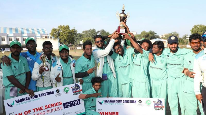 The Differently-Abled Kerala Cricket team on Tuesday won the National Blind Cricket championship-2019 held at Udaipur in Rajasthan. (Photo: DC File)