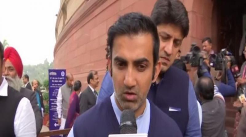 Gautam Gambhir also said that the Fast Track Courts (FTC) verdict should be taken as the final verdict in rape cases. (Photo: ANI)