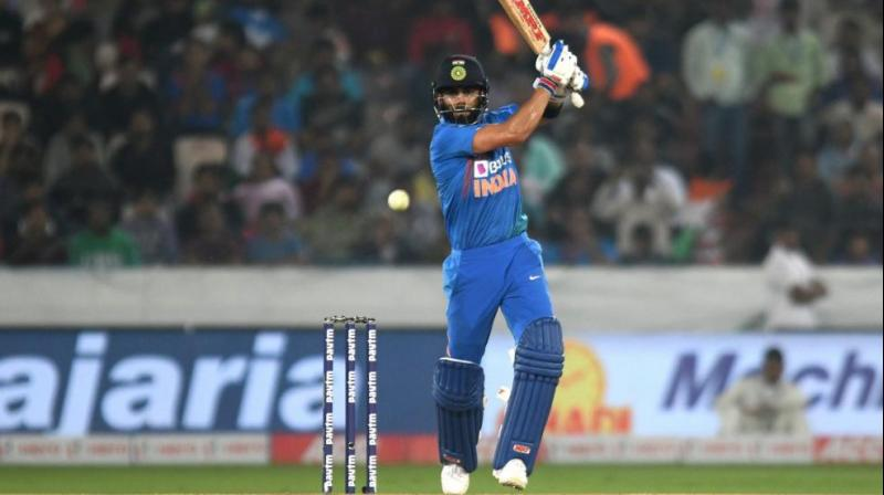 Skipper Virat Kohli stamped his authority with yet another sublime innings of career-best 94 not out as India pulled off their highest successful run chase in a T20 International to beat West Indies by six wickets in the first match here on Friday. (Photo: Twitter)
