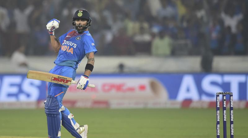Virat Kohli said while chasing a big total, there were a lot of distractions with the scoreboard pressure, but after playing a few dots, he began to settle down and got himself into shape to play the shots. (Photo: PTI)