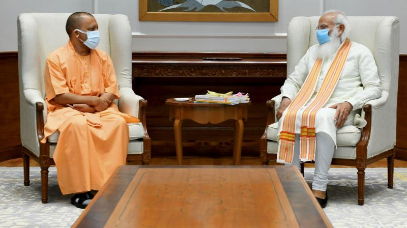 Yogi showed up when called -- but after that the story dries up. It didn't matter that the UP leader had held really long conversations with those at the very top PM Narendra Modi (well over an hour), home minister Amit Shah (even longer), and BJP president J.P. Nadda. (PTI)