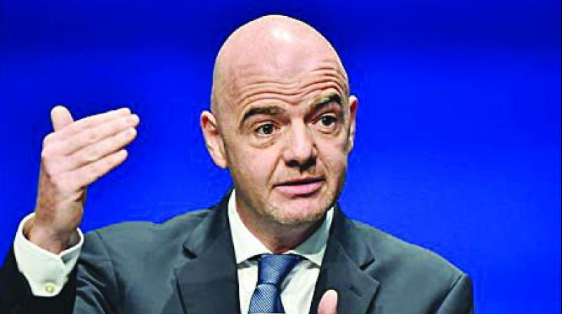Another Infantino idea, to bring forward the 48-team World Cup to 2022 in Qatar, had to be ditched (Photo: File)