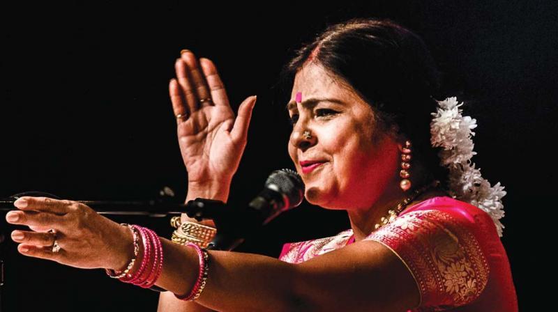 Malini Awasthi at a performance. (Photo: Bharat Tiwari)