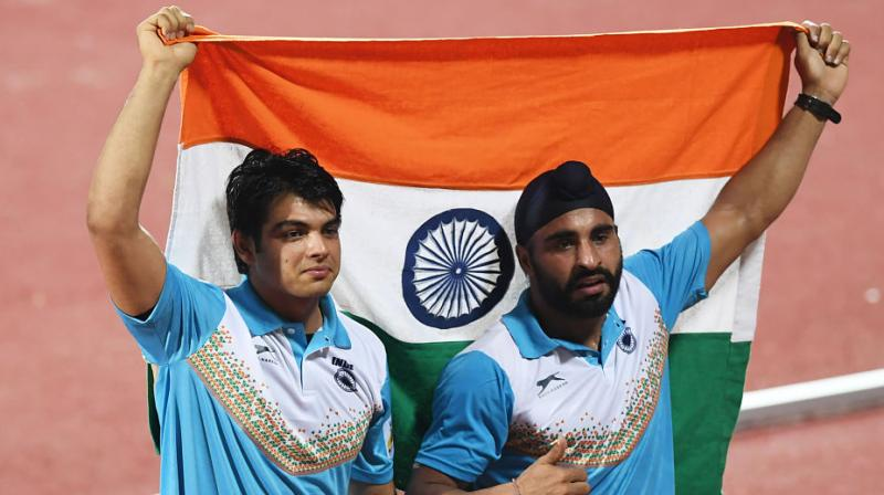 Neeraj Chopra's new Asian Championship javelin throw record brought a touch of class and emotion to the closing night of the event. (Photo: PTI)