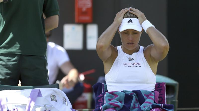 Garbine Muguruza's 4-6, 6-4, 6-4 victory marked the ninth consecutive time Angelique Kerber has failed to beat a top-20 opponent. (Photo: AP)