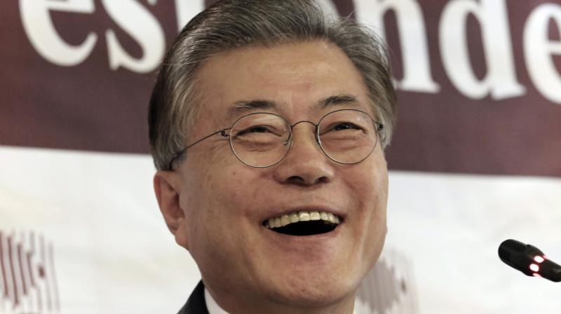 The likely winner -- by a distance -- is the liberal former Democratic Party leader Moon Jae-In who enjoys 36 percent of popular support. (Photo: AP)