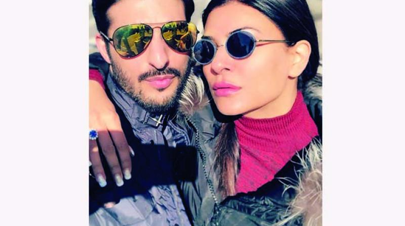 But, the recent picture posted by her could be pointing towards a new chapter for the couple, as Sushmita is seen flaunting a ring.