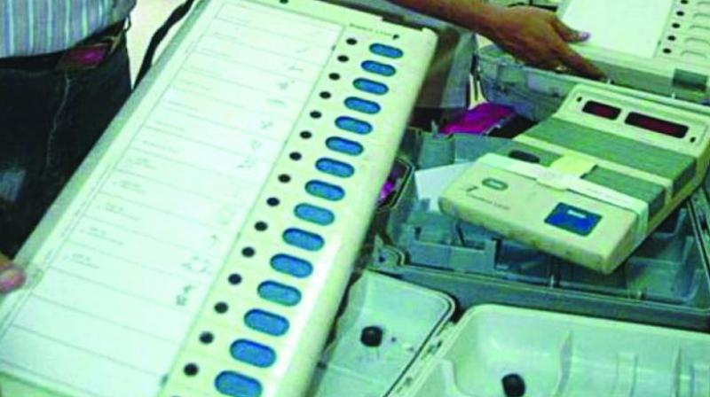 The clarification by the polling officer comes after various rumours on social media regarding EVMs leading to tensions in some parts of the region. (Photo: File)