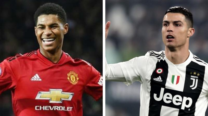 Manchester United forward Marcus Rashford has all the attributes to be as good as five-times Ballon d'Or winner Cristiano Ronaldo Ole Gunnar Solskjaer has said. (Photo:AFP)