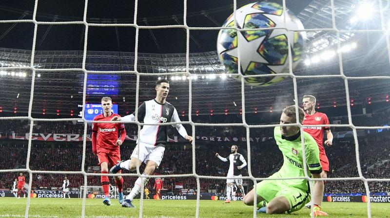 Cristiano Ronaldo and Gonzalo Higuain scored late goals as already-qualified Juventus beat hosts Bayer Leverkusen 2-0 in the Champions League (Photo:AP/ PTI)