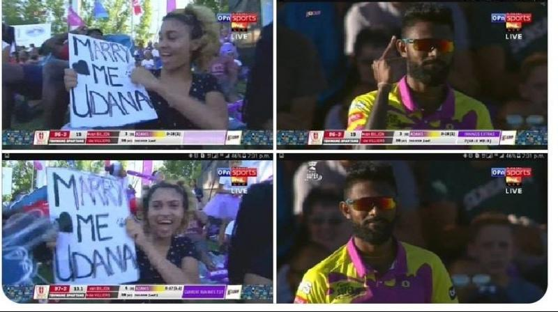 Sri Lanka's 32-year-old all-rounder Isuru Udana was openly proposed by a girl in South Africa to marry her. (Photo:File)