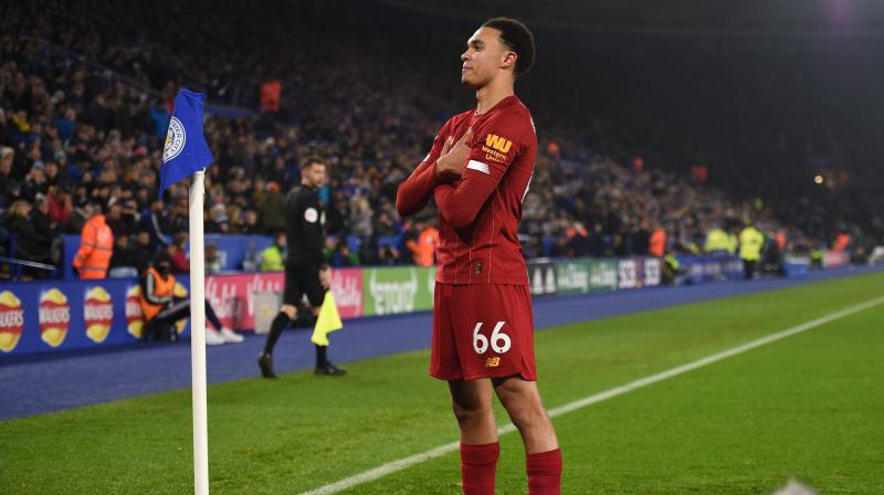 "Leicester City manager Brendan Rodgers described Liverpool right back Trent Alexander-Arnold's range of passing as ""phenomenal"" and said the 21-year-old's attacking instincts were as good as that of a midfielder. (Photo: AFP)"