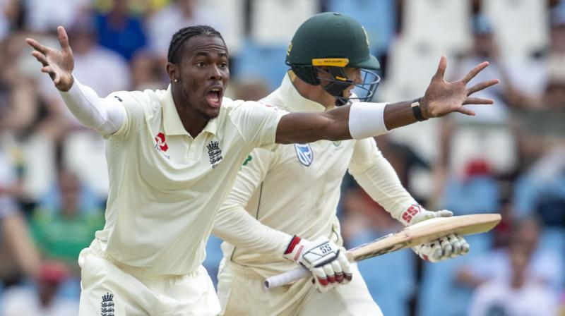 Rassie van der Dussen and Anrich Nortje shared the biggest partnership of the match as South Africa moved 300 ahead of England at lunch on the third day of the first Test on Saturday. (Photo: AP/ PTI)