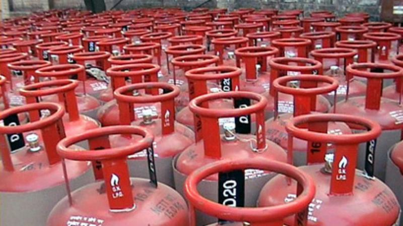 The price of market rate LPG or non-subsidised cooking gas was also hiked by Rs 48.50 per bottle to Rs 698.50. (Photo: PTI)