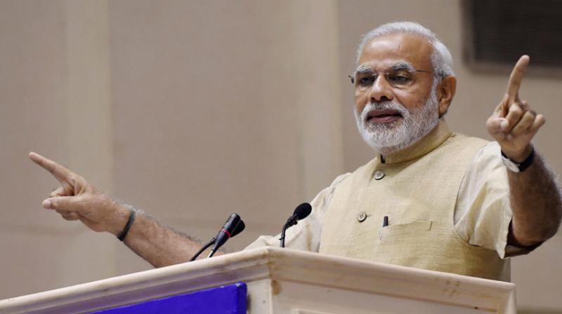 Prime Minister Narendra Modi claimed that his government had done more to promote Dr B.R. Ambedkar's memory than any previous government. (Photo: PTI)
