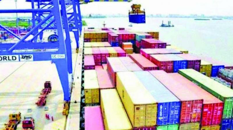 File image of the JNPT port in Navi Mumbai.