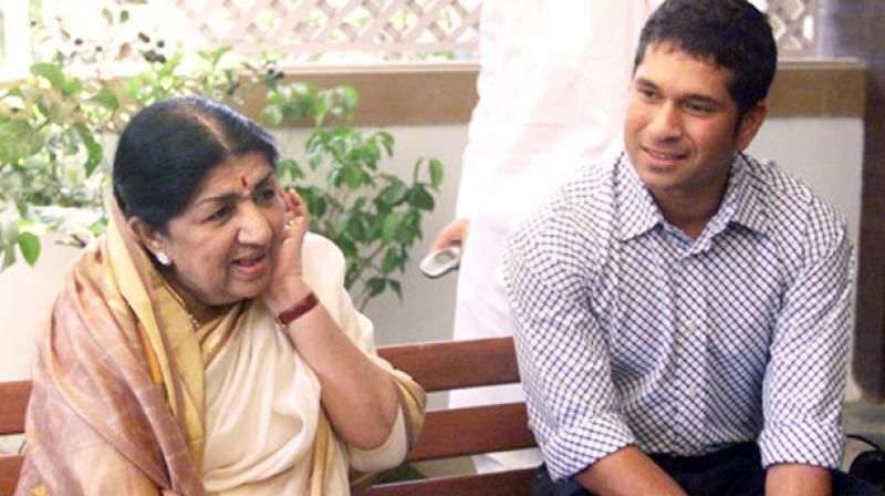 While Lata loves cricket and is a fan of Sachin's batting, the cricketer loves her songs.