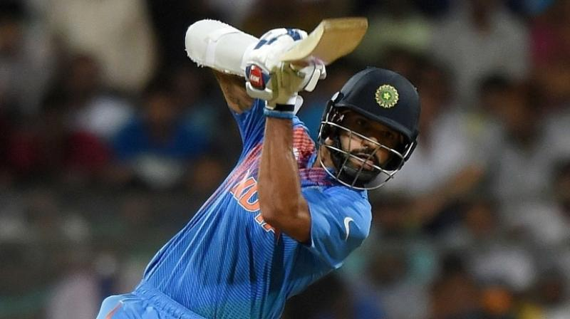Fractured finger, swollen neck, bruised eye and gashed knee, Shikhar Dhawan endured a painful 2019 but the India opener is ready to make a 'fresh start' reminding one and all that his 'class is permanent' and he 'hasn't forgotten how to bat'. (Photo:AFP)