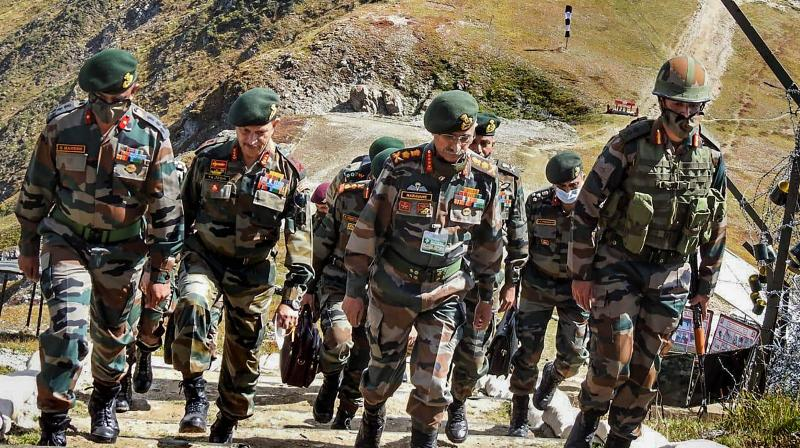 General MM Naravane, Chief of Army Staff (COAS) on a two-day visit to Kashmir, Thursday, Sept. 17, 2020. COAS arrived in Srinagar today and proceeded to undertake a firsthand assessment of the situation along the Line of Control (LC) in North Kashmir. (PTI Photo)