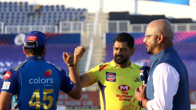 Both the captains at the toss. (IPL/Twitter)