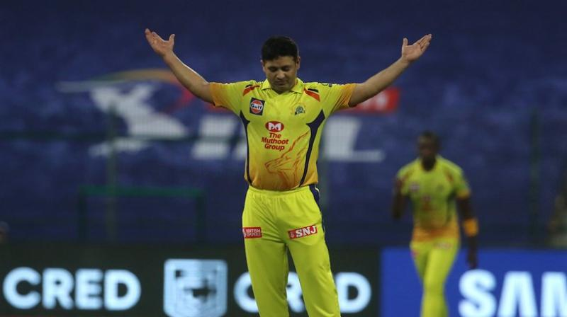 Piyush Chawla takes his first wicket in Yellow.