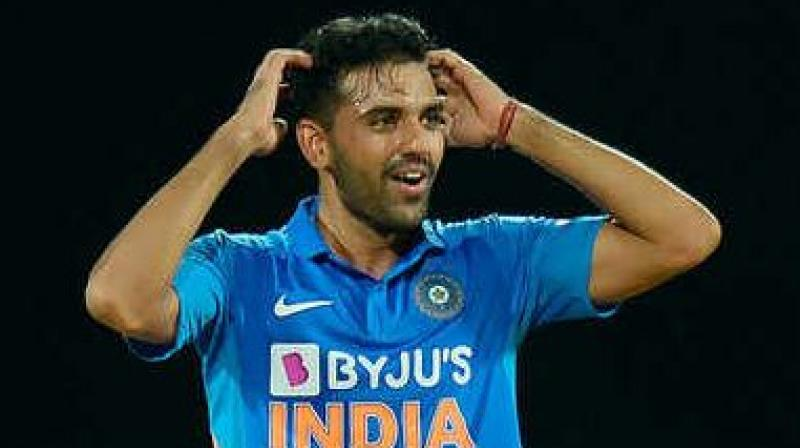 Indian cricket team's chief selector, MSK Prasad said that Deepak Chahar will remain out of squad till April next year. (Photo:AFP)