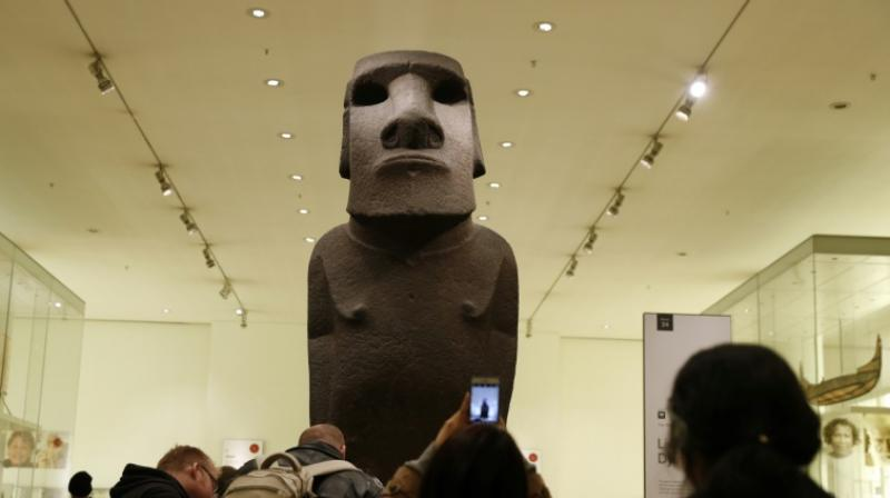 Polynesia's greatest tourist attractions are statues known as moai, which were sculpted from basalt more than 1,000 years ago. The British Museum has held one of them, called the Hoa Hakananai'a, for 150 years. (Photo: AFP)