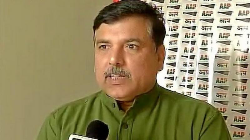 Aam Aadmi Party senior leader Sanjay Singh (Photo: Twitter | ANI)
