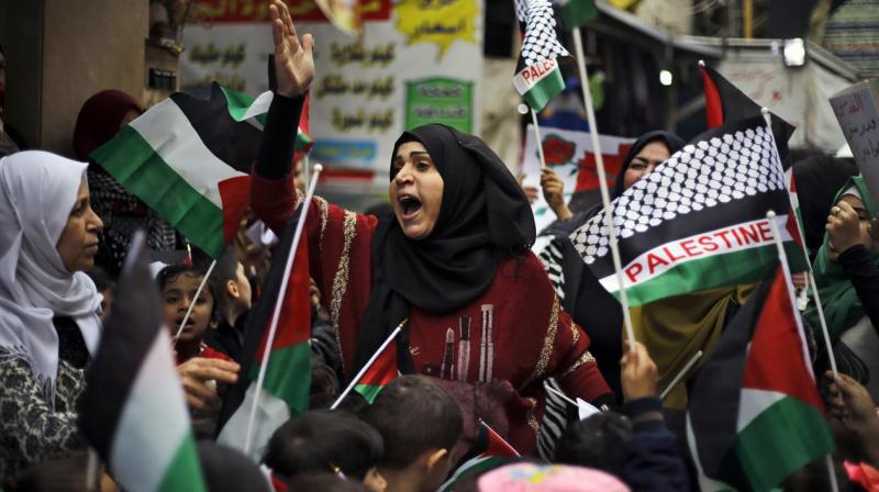 All Palestinian factions called for a general strike and protest rallies at midday on Thursday. (Photo: AP)
