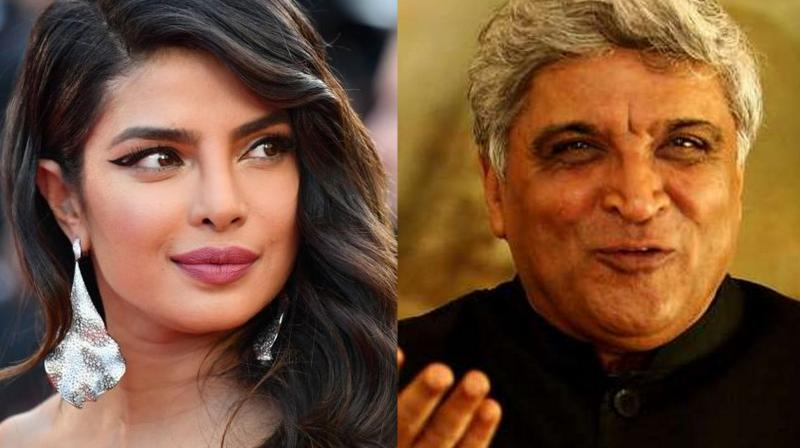 Priyanka Chopra and Javed Akhtar.