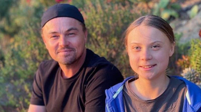 Leonardo Di Caprio with Greta Thunberg. (Photo: Instagram/ @leonardodicaprio)