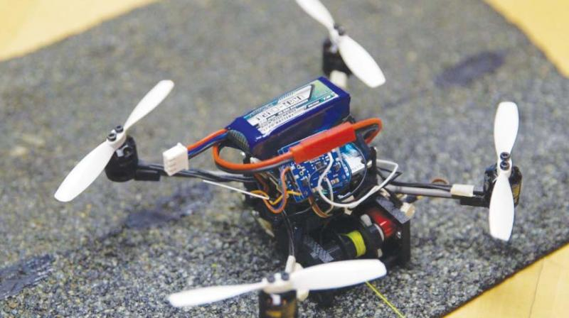The engineers claim that the drones are capable of moving objects 40 times their weight.