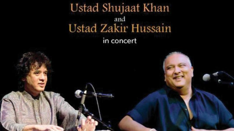 The audience had lined-up outside Delhi's Sir Shankar Lal Hall in Modern School from 4 pm itself for Ustad Shujaat Khan and Ustad Zakir Hussain's performance.