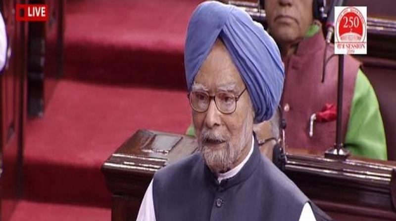 The former prime minister also gave a series of suggestions to improve the functioning of the house.  (Photo: Rajya Sabha TV)
