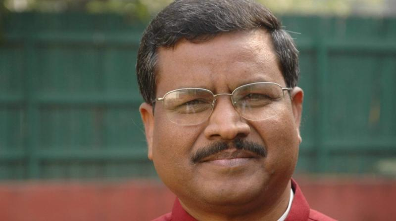 Babulal Marandi is leading from Dhanwar seat by 2841 votes. (Photo: Facebook)