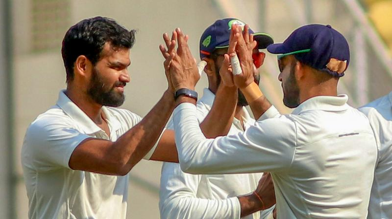 Set a target of 206, Saurashtra folded for 127 in 58.4 overs, giving Vidarbha their second title triumph in the country's marquee first-class tournament. (Photo: PTI)