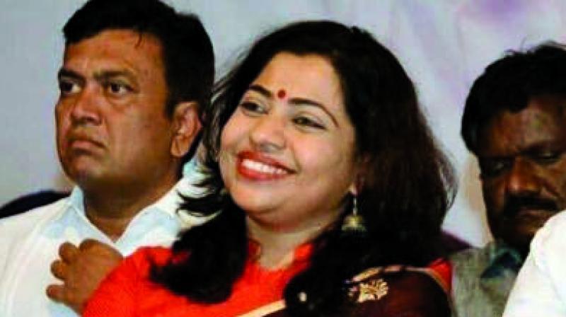 BJP leader Shweta Shalini wants Saamana banned on February 16, 20 and 21.