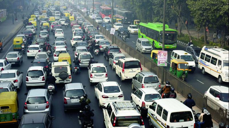 Lutyen's roads are less congested and have considerable difference between the average peak and off-peak speed. (Photo: PTI)