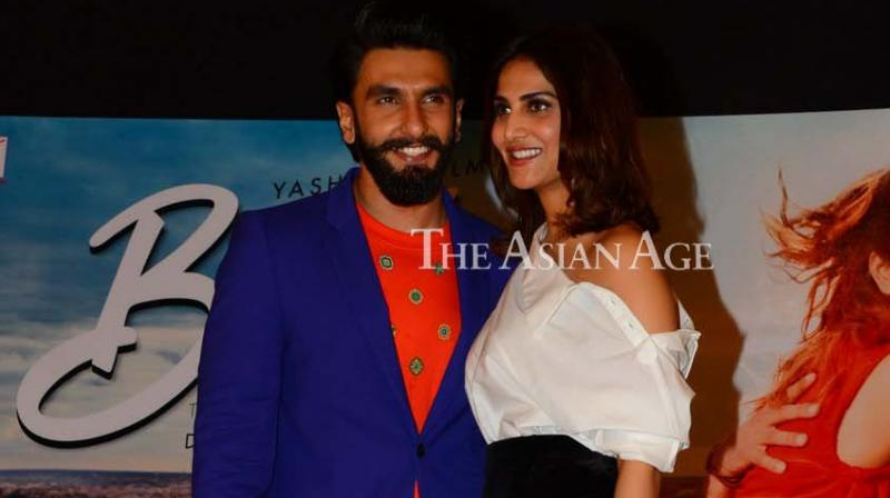 Ranveer Singh and Vaani Kapoor came out in style to launch the song 'You and Me' from their film 'Befikre' on Tuesday. (Photo: Viral Bhayani)